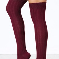 Ribbed Over The Knee Socks | MakeMeChic.com