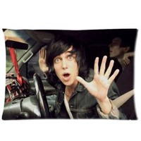 "Soft-home sleeping with sirens Kellin Quinn Post-hardcore Band Hybrid Pillowcase Cushion Covers Diy Custom Case 2 Sides Size 20""x30"" D47-19"