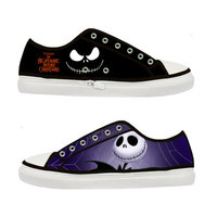 The Nightmare Before Christmas Tim Burton Women Canvas Shoes - Sizes: US 5 6 7 8 9 - EUR 36 37 38 39 40