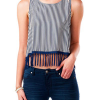 KEY WEST FRINGED CROP TOP