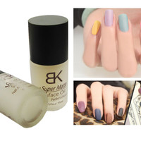 Nail Art Polish Magic Oil Color Supper Matte Dull Effect Finisher Top Coat 15ml