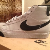 Wolf Grey And Black Nike Blazer Mid GS Size 5.5Y