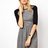 ASOS Skater Dress With Raglan Sleeve In Nepi