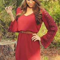 Love I Need Dress: Burgundy