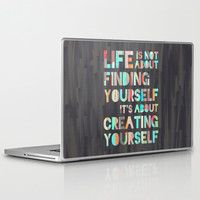 Create Yourself Laptop & iPad Skin by Jacqueline Maldonado