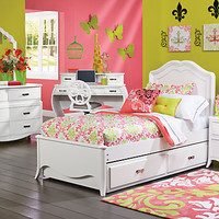 Nicolette White 5 Pc Twin Bedroom