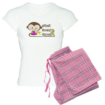 Cute Monkey - Wanna Monkey Around? Pajamas