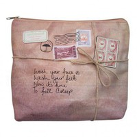 Toiletries bag - vintage parcel