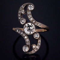 Belle Epoque Diamond Swirl Ring