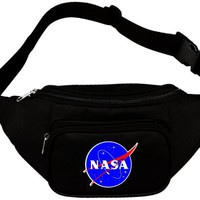 NASA Meatball Logo Waist Fanny Pack Black