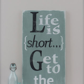 Beach Quote Wall Art Custom Wood Sign From Inmind U On Etsy Jpg 354x354 Signs